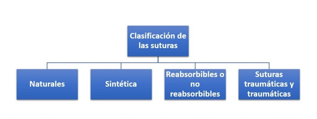 Clasificación de las suturas